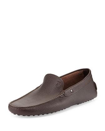 Plain Pebbled Driving Shoe