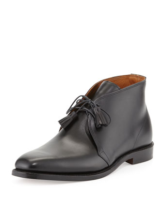Leather Tassel Chukka Boot