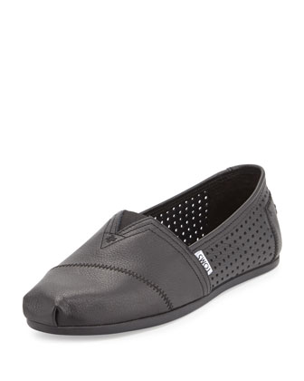 Classic Perforated Leather Slip-On