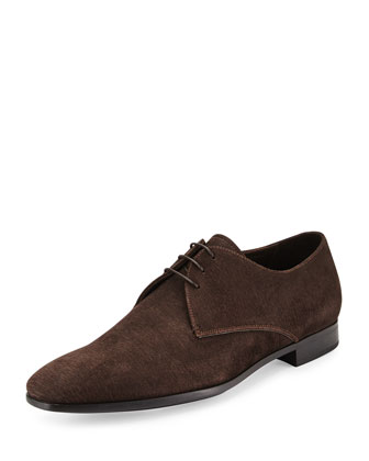 Textured Suede Derby Shoe