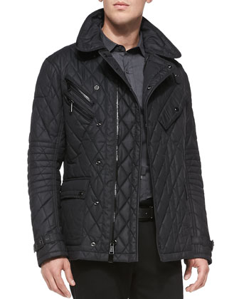 Quilted Nylon Jacket Black