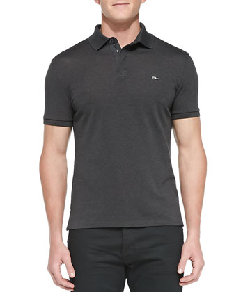Snap-Placket Polo, Anthracite