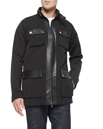 Tech-Canvas Utility Jacket