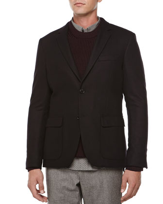 Wool/Cashmere Blend Jacket, Navy