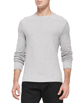 Textured Knit Sweater, Gray