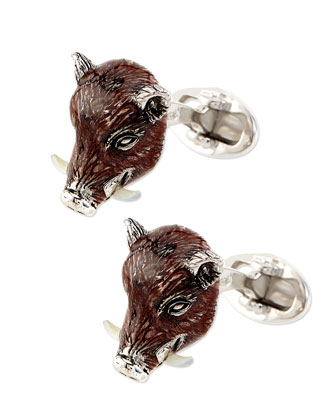 Boar Head Cuff Links
