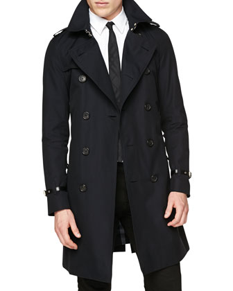 Double-Breasted Trenchcoat W/ Belted Cuffs, Navy