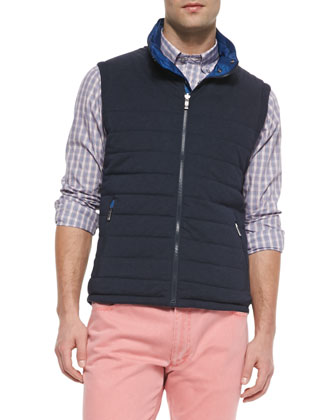 Reversible Tech-Fabric Vest, Blue