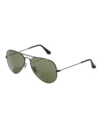 Classic Aviator Sunglasses, Black