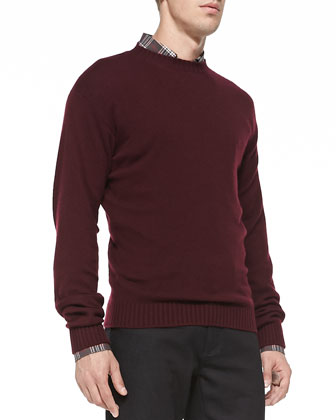Wool Crewneck Sweater, Red