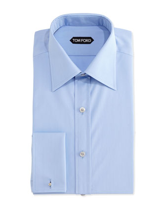 Classic French-Cuff Dress Shirt, Blue