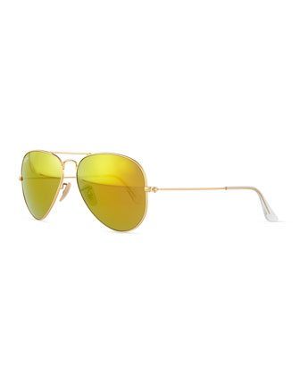 Original Aviator Sunglasses, Gold/Yellow