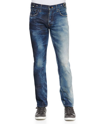 Rambler Japanese Faded-Leg Denim Jeans