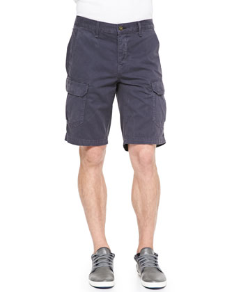Cotton Cargo Shorts, Navy