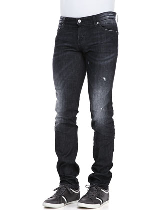 Slim-Leg Jeans, Black