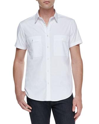 Milhouse Exclusive Short-Sleeve Shirt, White
