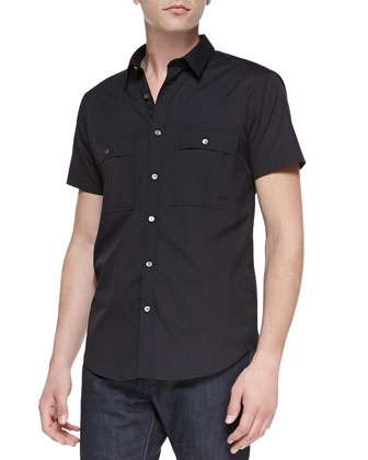 Milhouse Exclusive Short-Sleeve Shirt, Black