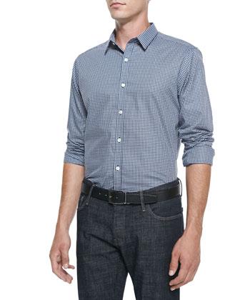 Zack PS Windowpane Keros Shirt, Navy