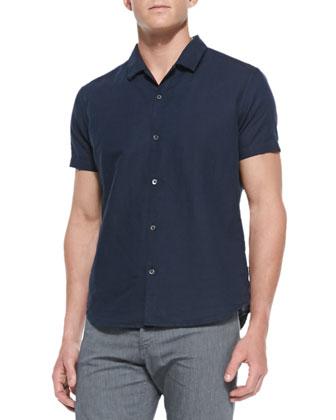 Ludwyk NP Rotuma Linen Shirt, Navy