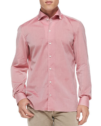 Solid Riva Woven Shirt, Red