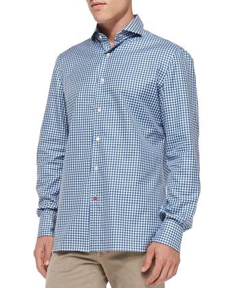 Check Woven Shirt, Blue