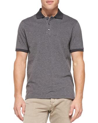 Suede Zip-Front Vest, Cashmere Ombre-Stripe Sweater, Melange-Knit Polo & ...