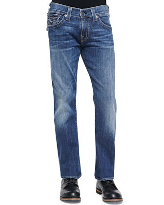Ricky Lakeview Denim Jeans, Med Blue