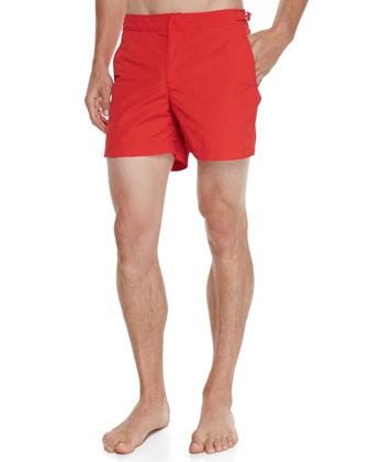 Setter Short-Length Swim Trunks, Red