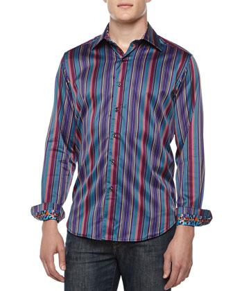 Five Boro Multicolor Striped Shirt