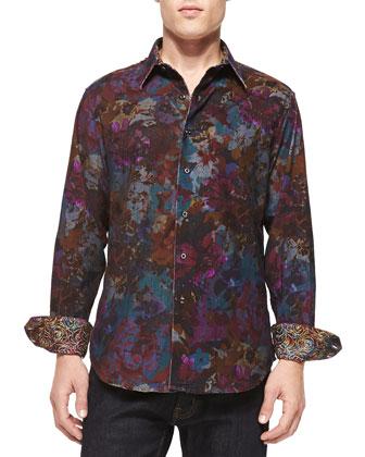 Iron Horse Floral-Print Sport Shirt
