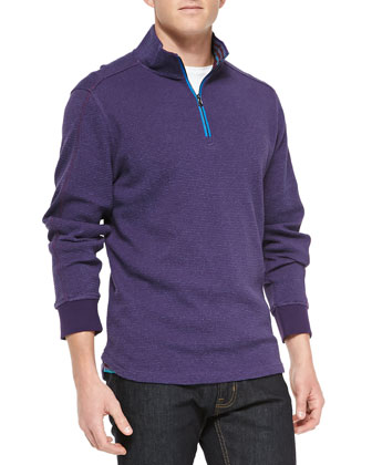 Falconer 1/4-Zip Pullover Sweater, Purple
