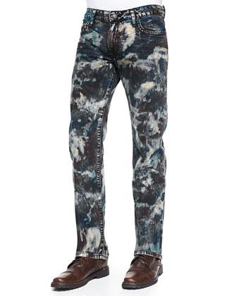 Star-Pocket Denim Jeans