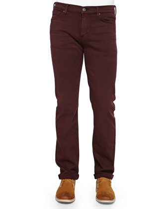 Slimmy Denim Jeans, Crimson
