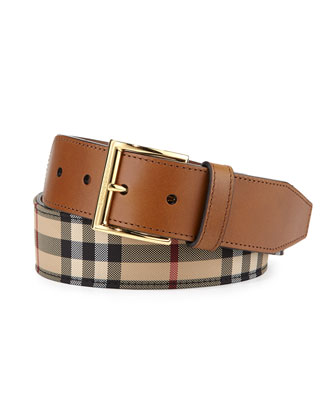 Horseferry Cleydon Buckle Belt, Tan