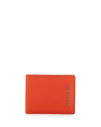 Pebbled Leather Bi-Fold Wallet