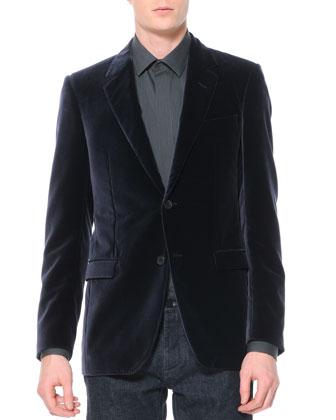 Velvet Evening Jacket, Violet