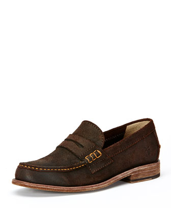 Greg Penny Loafer, Dark Brown