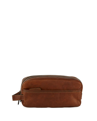 Logan Leather Travel Kit, Dark Brown