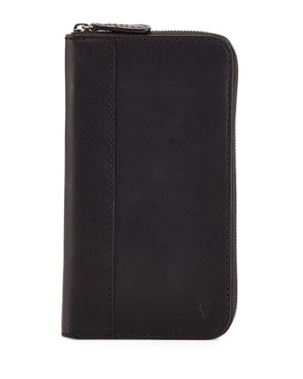 Logan Leather Travel Wallet, Black