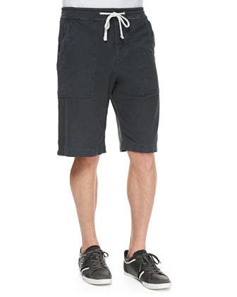 Twill Cargo Shorts, Charcoal