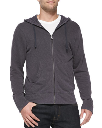 French-Terry Zip Hoodie, Wine