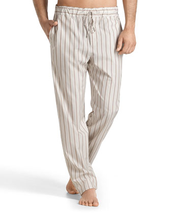 San Marino Striped Lounge Pants, Light Brown