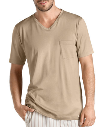 San Marino V-Neck Tee, Light Brown