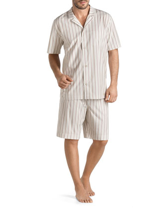 San Marino Two-Piece Pajama Set, Light Brown