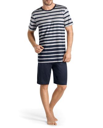 Milano Pajama Set, Gray/Blue