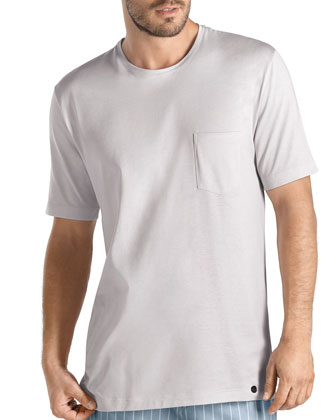 Sorrento Short-Sleeve Tee, Light Gray
