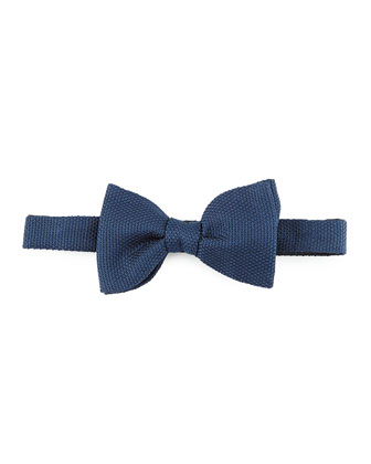 Grenadine Bow Tie, Blue