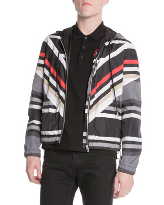 Striped Hoodie Wind Jacket