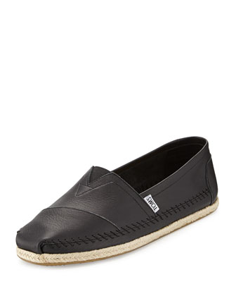 Classic Full-Grain Leather Slip-On, Black