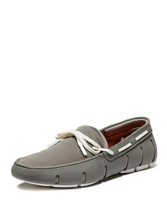 Lace Loafer, Gray/White